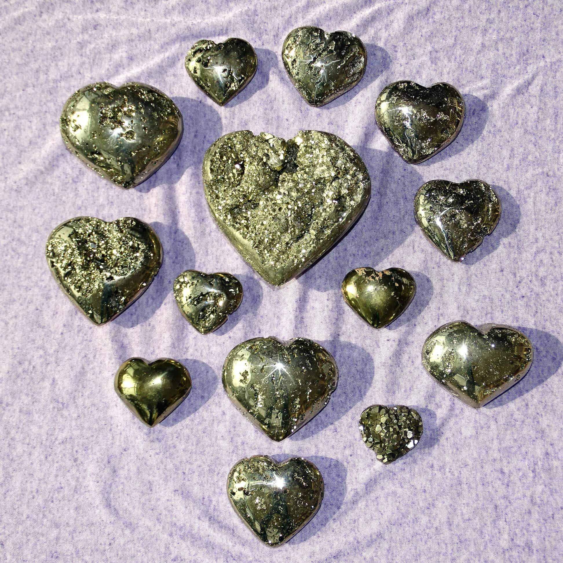 Pyrit-Herzen für (Selbst)LIEBE, FÜLLE und GESUNDHEIT auf allen Ebenen