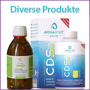 Diverse Produkte: MMS, CDSplus, DMSO, Koll. Silber, Magnesium...